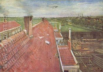 View from His Atelier in the Hague - Vincent van Gogh reproduction oil painting