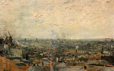 View from Montmartre 1886 - Vincent van Gogh reproduction oil painting