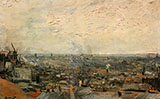 View from Montmartre 1886 - Vincent van Gogh