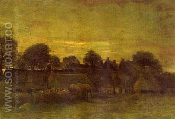 Village at Sunset - Vincent van Gogh reproduction oil painting