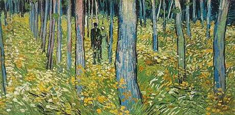Walking in the Forest - Vincent van Gogh reproduction oil painting