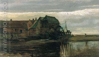 Watermill at Gennep - Vincent van Gogh reproduction oil painting