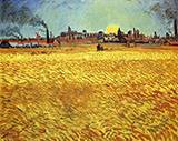 Wheat Field at Sunset 1889 - Vincent van Gogh