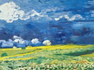 Wheat Field under A Cloudy Sky - Vincent van Gogh