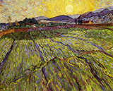 Wheat Field with Rising Sun - Vincent van Gogh