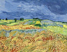 Wheat Fields 1890 - Vincent van Gogh reproduction oil painting