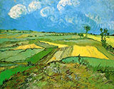 Wheat Field at Auvers under Clouded Sky - Vincent van Gogh reproduction oil painting