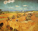 Wheat Stacks with Reaper - Vincent van Gogh
