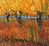 Willows at Sunset - Vincent van Gogh reproduction oil painting