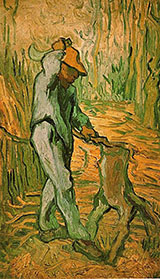 Woodcutter After Millet The February 1890 - Vincent van Gogh