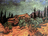Wooden Sheds December 1889 - Vincent van Gogh reproduction oil painting