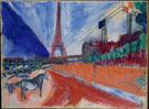 Le Pont de Passy et la Tour Eiffel 1911 - Marc Chagall