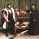The Ambassadors 1533 - Hans Holbein reproduction oil painting