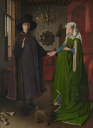 The Arnolfini Portrait 1434 - Jan Van Eyck reproduction oil painting