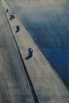 Wharf with Fisherman on a Mooring Post 1909 - Leon Spilliaert