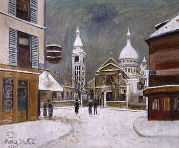 Church of St Peter Montmartre 1931 - Maurice Utrillo reproduction oil painting