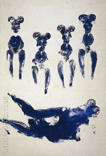 ANT 74 1960 - Yves Klein reproduction oil painting