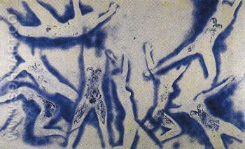 ANT 96 Humans Begin to Fly 1961 - Yves Klein reproduction oil painting