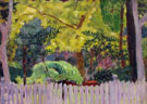 The Violet Fence 1923 - Pierre Bonnard reproduction oil painting