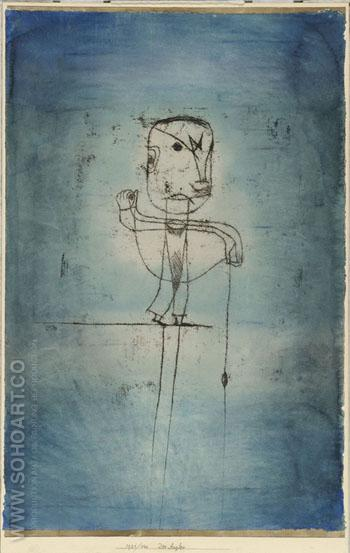 Der Angler 1921 - Paul Klee reproduction oil painting