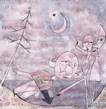 Scene at the Water Scene Am Wasser 1922 - Paul Klee reproduction oil painting