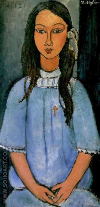 Alice 1918 - Amedeo Modigliani reproduction oil painting