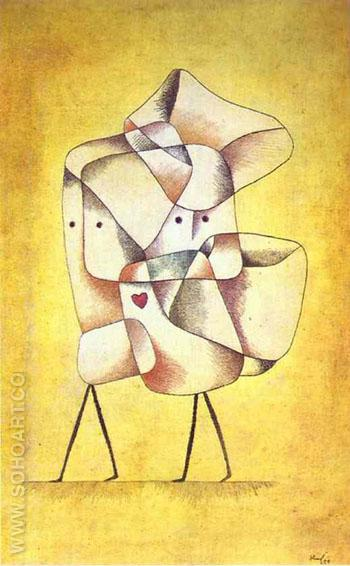 Siblings 1930 - Paul Klee reproduction oil painting