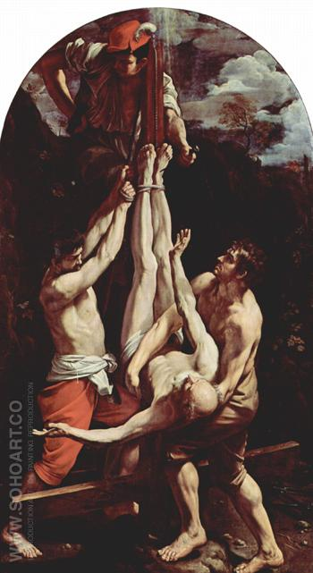 Crucifixion of St Peter 1605 - Guido Reni reproduction oil painting
