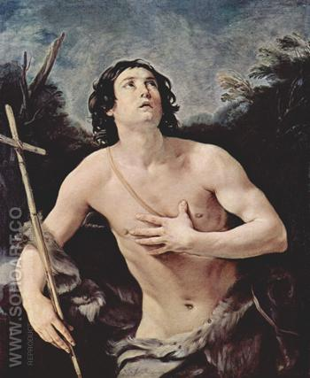 John The Baptist 1640 - Guido Reni reproduction oil painting