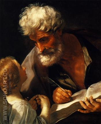 Saint Matthew 1621 - Guido Reni reproduction oil painting