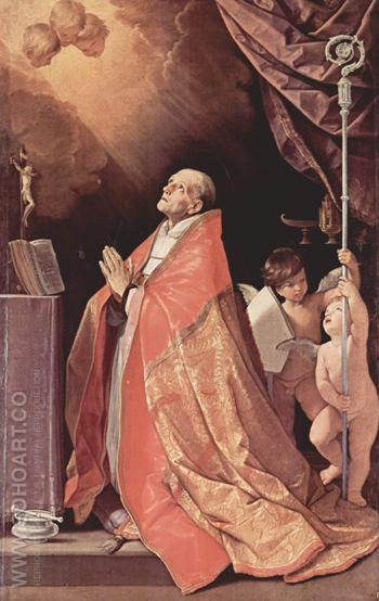 St Andrew Corsini In Prayer 1635 - Guido Reni reproduction oil painting