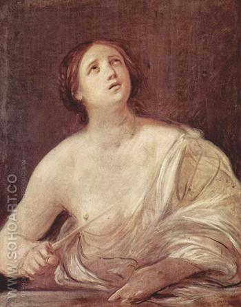 Suicide of Lucretia 1642 - Guido Reni reproduction oil painting