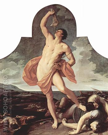 The Victorious Samson 1612 - Guido Reni reproduction oil painting