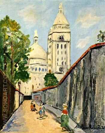 Basilica - Maurice Utrillo reproduction oil painting