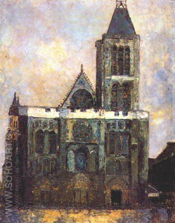 Basilica of St Denis - Maurice Utrillo reproduction oil painting