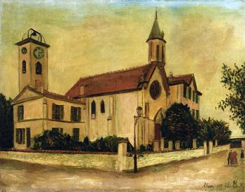 Beaulieu Church - Maurice Utrillo reproduction oil painting