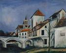 Bridge and Church - Maurice Utrillo