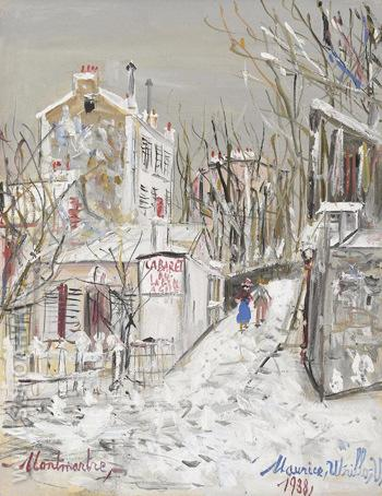 Cabaret Le Lapin Agile 1938 - Maurice Utrillo reproduction oil painting