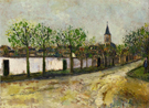 Church and Street in Montmagny 1908 - Maurice Utrillo