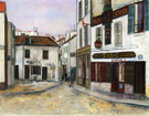 Mother Catherines Restaurant in Montmatre 1917 - Maurice Utrillo