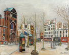 Place Des Abbesses 1931 - Maurice Utrillo