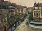 Rue Custine a Montmartre 1909 - Maurice Utrillo