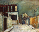 Rue Du Mont Cenis in the Snow 1917 - Maurice Utrillo