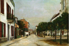 Rue Du Moutier and Place Dl La Mairie at Villejuif 1915 - Maurice Utrillo