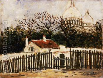Sacre Coeur A - Maurice Utrillo reproduction oil painting