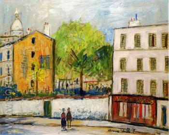 Street in Montmartre - Maurice Utrillo reproduction oil painting