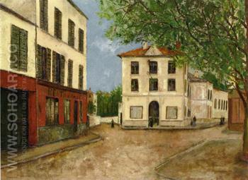 Street in Nanterre 1913 - Maurice Utrillo reproduction oil painting