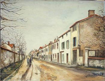 Suburban Street Scene 1910 - Maurice Utrillo reproduction oil painting