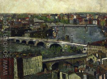 The Bridge of Toulouse 1909 - Maurice Utrillo reproduction oil painting