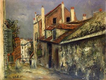 The House of Mimi Pinson in Montmartre 1915 - Maurice Utrillo reproduction oil painting